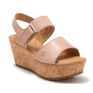 Born Shoes - Born Womens Mae Platform Wedge Leather Sandal Hook